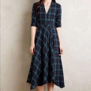 Anthropologie Isabella Sinclair Plaid Shirt Dress